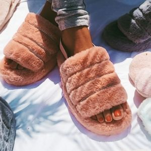 🌈Above the Clouds Collection// Fur slippers
